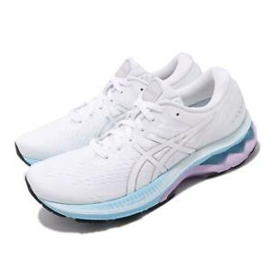 Asics Gel-Kayano 27 White Silver Blue Women Running Shoes Sneakers 1012A649-100