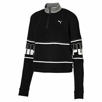 PUMA REBEL Halfzip Turtleneck Women Crop Top Basics