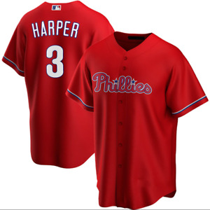Bryce Harper Philadelphia Phillies Red Fanmade Baseball Jersey Shirt XS-4XL