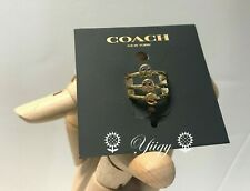 🌻 Coach F73026 PAC-MAN Ring Set Gold size 5 NEW AUTH 🌻