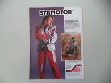 advertising Pubblicità 1989 STILMOTOR e GILLES LALAY