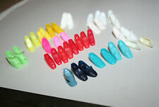 Big Lot Shoes Barbie Fashion Doll Clone Vintage Pink Red Yellow Blues Green