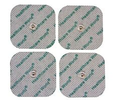 4 SQUARE STUD TENS ELECTRODE PADS 5cm x 5cm REUSABLE CE Marked 3.5mm Stud