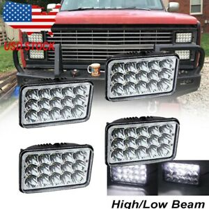 "4X6"" LED Headlights Hi Lo Beam Fit for Fit for Chevy C/K Pickup/Suburban/Blazer"