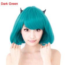 Straight Blue New Bob Anime Short Women Wig Cosplay Costume Heat Full Hair Wigs