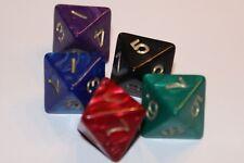5 Würfel 8-seitig pearl Spielewürfel Spielezubehör Zahlenwürfel D8 W8