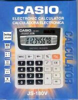 Casio Electronic 8 Digits Calculator JS-180V - new