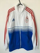 Adidas Mens Olimpic Team GB White & Blue Zip Jacket Size L Immaculate