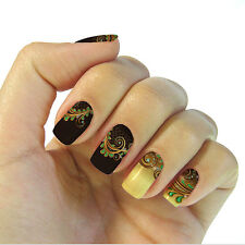 Different Sizes Nail Art Full Wraps Patch Decals Sticker Sheets Pack of 5