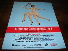 4AD - BLONDE REDHEAD - PUBLICITE / ADVERT 23 !!!!!!!!!!