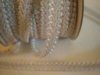 Vtg 5 Yds Mansure-Purple-Silky Tassel Woven Gimp Trim Fringe Drapery-Upholstery