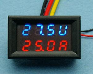 DC 0-30V 0-50A Led Panel Volt Amp Combo Meter Digital Voltmeter Ammeter