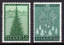 Iceland 1957 Reforestation Mi. 320-21 MNH