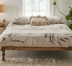 URBAN OUTFITTERS King size Duvet Floral nuetral shades REDUCED!