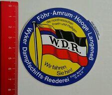 Aufkleber/Sticker: Wyker Dampfschiffs Reederei (27061627)