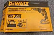 DeWalt DCF620D2, 20V MAX XR Li-Ion Brushless Drywall ScrewGun Kit NOB