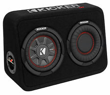 "Kicker 43TCWRT672 CompRT 6.75"" 300 Watt Shallow Subwoofer+Slim Sub Box Enclosure"