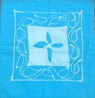 Housse de coussin Bleu Batik 2 faces Taie de coussin Coton Inde Hippy Boho T