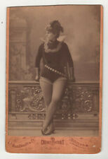 Cabinet Photo portrait opera Gerda Grönberg - Rove c. 1880 W. Dahllof Very RARE