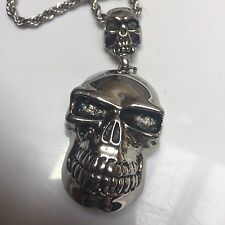 Silver Color Cool Skull Skeleton Chain Necklace Choker