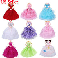 "9 PCs Handmade Doll Dress Wedding Party Princess Clothes Dresses for 12"" Doll"