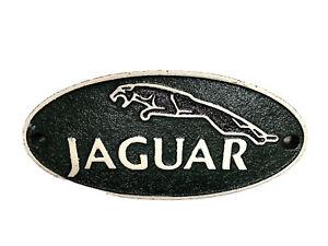Jaguar sign small Cast Iron wall plaque