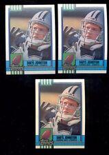 1990 DARYL JOHNSTON Dallas Cowboys Rookie Lot both Disclaimer Versions + Tiffany