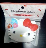 SANRIO Hello Kitty Cute Earbuds Earphones In-Ear Headphones Case Sale