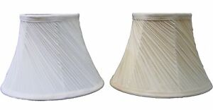 "Classic 14"" Mushroom Swirl Pleated Ceiling Table Lamp Shade Cream & Champagne"