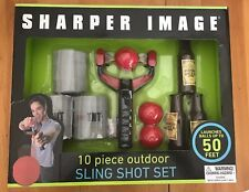 Sharper Image 10pc Outdoor Sling Shot Game Set Launches Up To 50ft (MCL&ST)