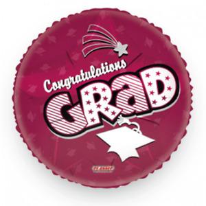 "Congratulations Grad Graduation Cap Mylar 18"" Balloons Party Decoration (4-pack)"