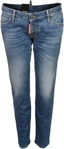 Women's Dsquared Jeans Jennifer Cropped Washed Blue  IT42 D36 NEU*   75606-004