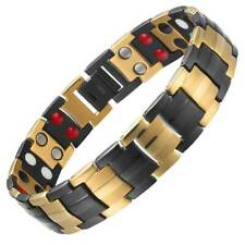 Black Gold Titanium 4in1 Bio Magnetic Bracelet Carpal Tunnel & Arthritis Therapy