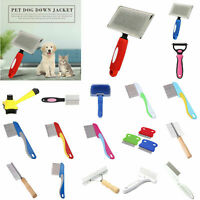 Pet Dog Hair Comb Puppy Cat Clean Shedding Grooming Trimmer Fur Massage Brush