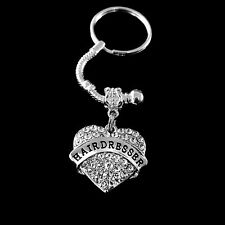 Hairdresser key chain gift crystal heart Hair stylist gift salon hairdresser