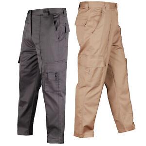 Cargo Combat Work TROUSERS Men's work wear UK HEAVY DUTY Pants Waist 30-42 inch