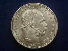 "Gulden ( Forint ) 1881  KB Silber  Franz Joseph "" Erhaltung ""  W/20/1202"