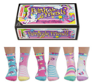 UNITED ODDSOCKS FAIRYTALE UNICORN & RAINBOW MAGICAL SOCKS GIRLS UK SIZE 9 - 12