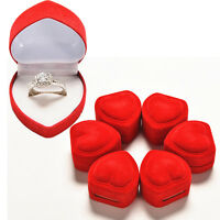 3x   New Heart Shaped Ring Box Red Love Heart Storage Box Jewelry Display Box