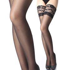 Sexy Damen Halterlose Netz Feinstrumpf Spitze Strümpfe Stockings Strapsstrümpfe