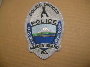 MERCER ISLAND WASHINGTON POLICE PATCH (4 1/8 INCH VERSION SHOULDER PATCH)