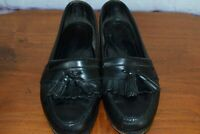 COLE HAAN  9.5 D - BLACK LEATHER KILTIE TASSEL LOAFERS