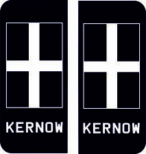 Cornwall Kernow Cornish St Pirans Flag Number Plate Badge Exterior Sticker Decal