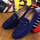 Fahsion Soft Men Driving Loafers Suede Leather Moccasins Slip On Penny Shoes