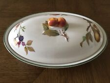 Royal Worcester Evesham Vale Oval Casserole  Made in UK