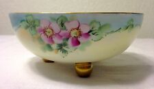 OLDER VINTAGE P T TIRSCHENREUTH Footed Hand-Painted Porcelain Bowl ~ BAVARIA