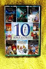10 ANIMATED/KIDS BIBLE STORIES(265 MINUTES)BRAND NEW/SEALED DVD(MOSES/JESUS)!