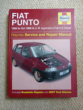 FIAT PUNTO HAYNES MANUAL L to V REGISTRATION 1994 to 1999 PETROL & DIESEL