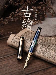 HD Maki-e Fountain Pen Fine Nib Metal Writing Pen Beautiful Pattern Collection