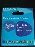carte sim prepayee lebara mobile 4G(reseau bouygues) sans credit